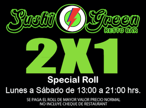 promo 2 sushi green