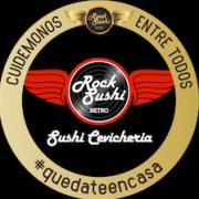 retro rock sushi logo